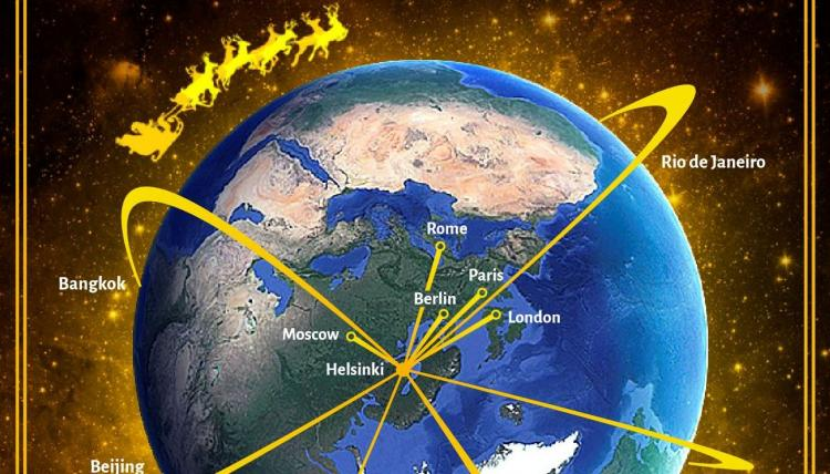 Season's Greetings from the country of Santa Claus and Polar Aviation